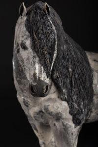 Erèbe, cheval de trait mulassier poitevin - Pièces de Nadine JANIN
