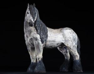 Erèbe, cheval de trait mulassier - Pièces de Nadine JANIN