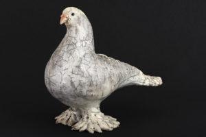 Pigeon Lahore blanc - Pièces de Nadine JANIN