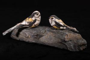 Couple de mésanges à longue queue - Pièces de Nadine JANIN